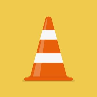 Illustration vectorielle de trafic cône