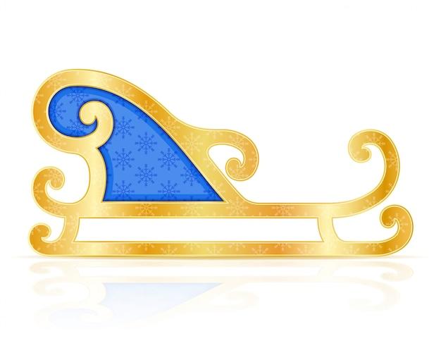 Illustration vectorielle de traîneaux de noël santa claus