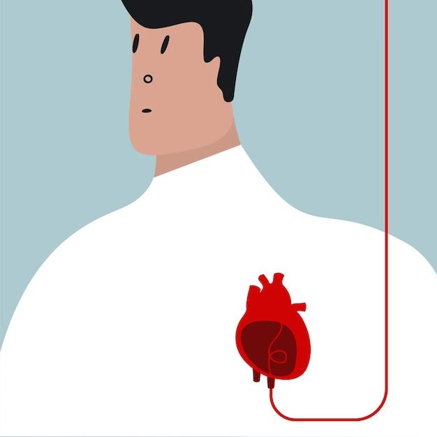 Illustration vectorielle de transfusion sanguine colorée
