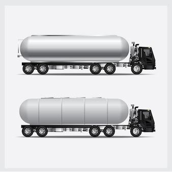 Illustration vectorielle de transport de camions de fret