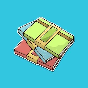 Illustration vectorielle de trois livres