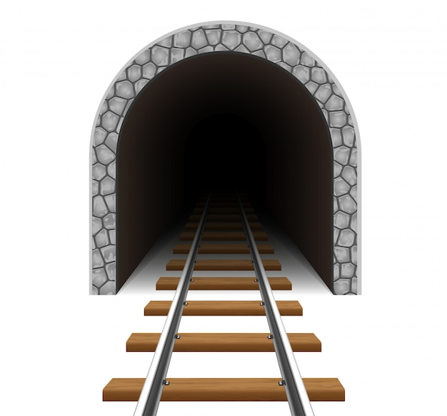 Illustration vectorielle de tunnel ferroviaire