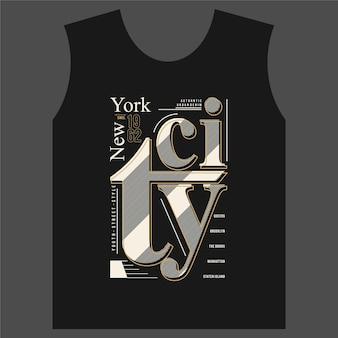Illustration vectorielle de typographie graphique new york city bon pour t-shirt imprimé et autre utilisation