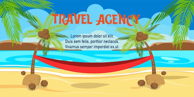 Illustration vectorielle de vacances d'été avec lettrage