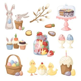 Illustration vectorielle de vacances de pâques