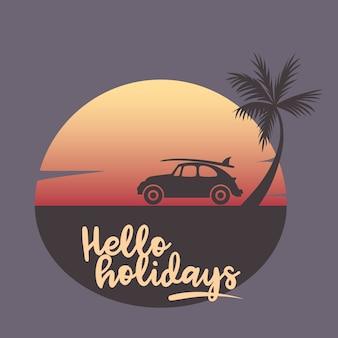Illustration vectorielle de vacances