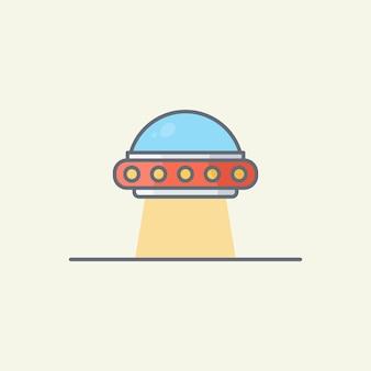 Illustration vectorielle de vaisseau spatial extraterrestre