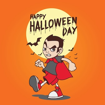 Illustration vectorielle de vampire halloween