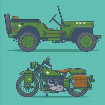 Illustration vectorielle de véhicule militaire