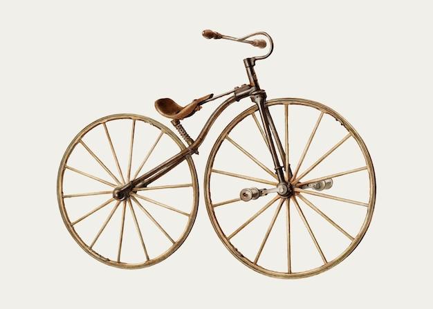 Illustration vectorielle de vélo vintage, remixée de l'œuvre d'art d'alfred koehn