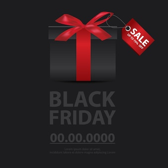 Illustration vectorielle de vendredi noir vente bannière flyer