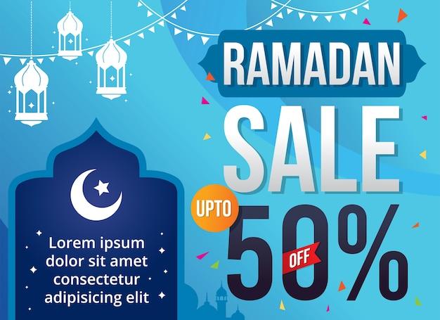 Illustration vectorielle vente de ramadan