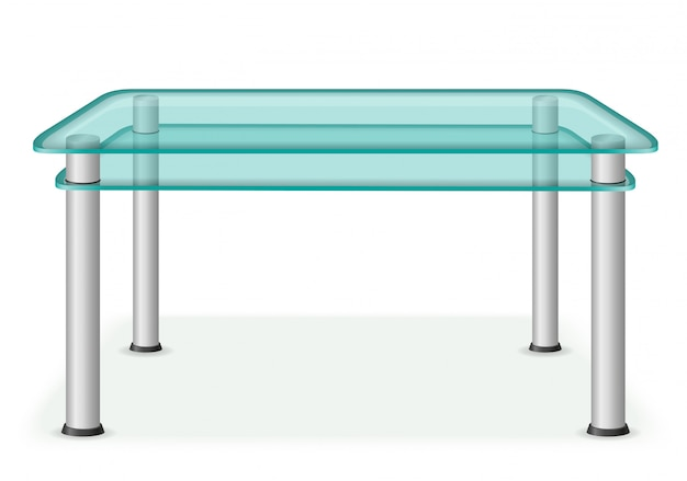 Illustration vectorielle de verre table mobilier