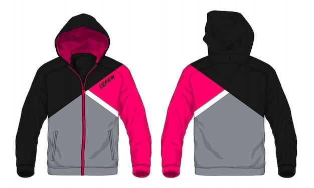Illustration vectorielle de veste à capuche sport.
