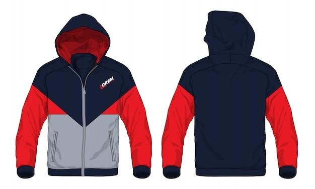 Illustration vectorielle de veste de sport à capuche.