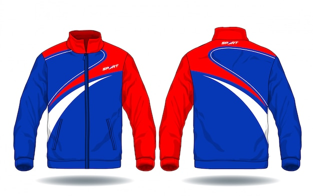 Illustration vectorielle de la veste de sport.