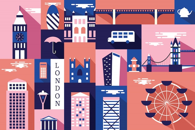 Illustration vectorielle de la ville de londres