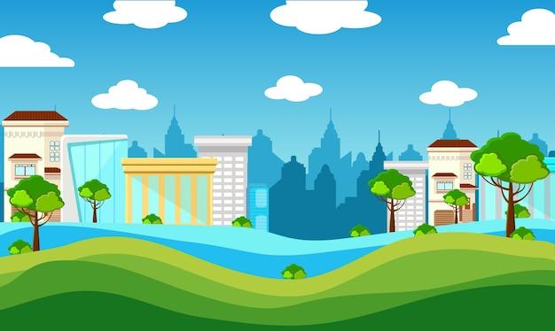 Illustration vectorielle de la ville