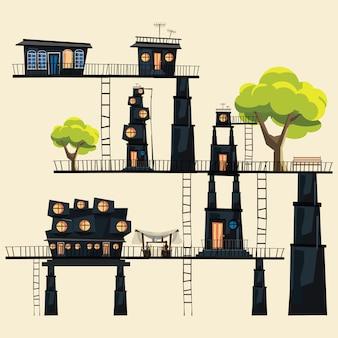Illustration vectorielle de ville