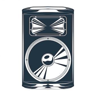 Illustration vectorielle vintage du haut-parleur