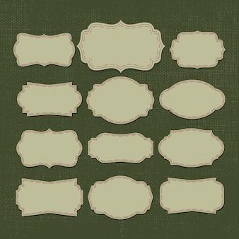 Illustration vectorielle: vintage lable
