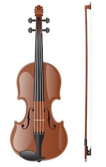 Illustration vectorielle de violon