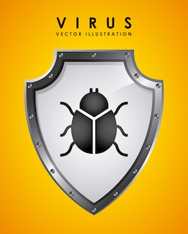 Illustration vectorielle de virus design graphique