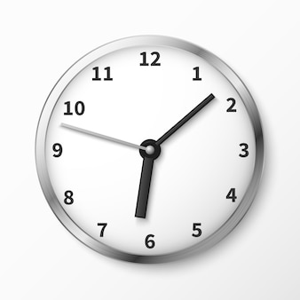 Illustration vectorielle de visage d'horloge murale moderne