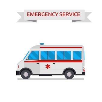 Illustration vectorielle de voiture ambulance