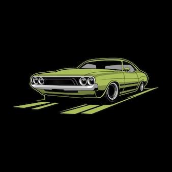 Illustration vectorielle de voiture classique