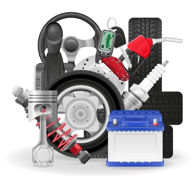Illustration vectorielle de voiture concept icônes