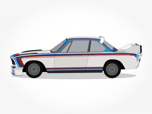 Illustration vectorielle de voiture dessin animé détaillée