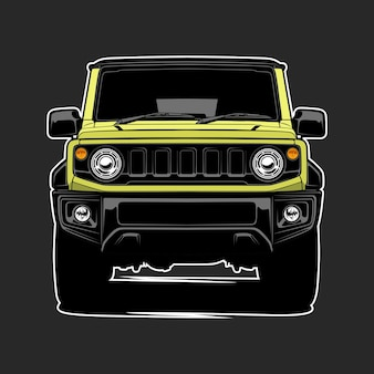 Illustration vectorielle de voiture pour la conception conceptuelle