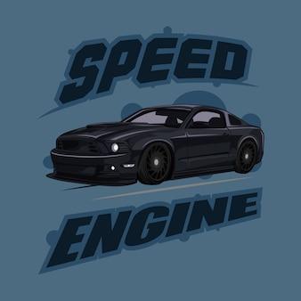 Illustration vectorielle de voiture de sport affiche