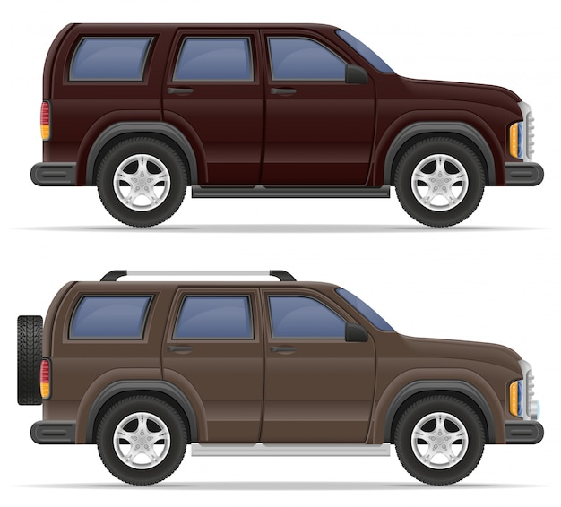 Illustration vectorielle de voiture suv