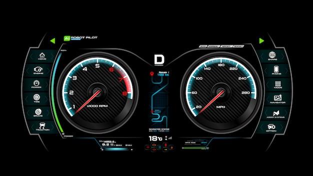 Illustration vectorielle de voiture tableau de bord