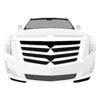 Illustration vectorielle de voiture vue de face