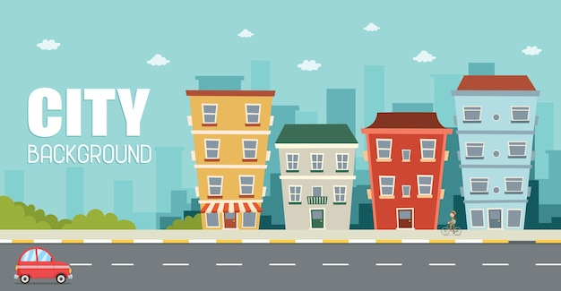 Illustration vectorielle de la vue sur la ville