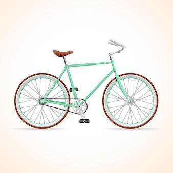 Illustration vélo hypster isolé sur fond blanc.
