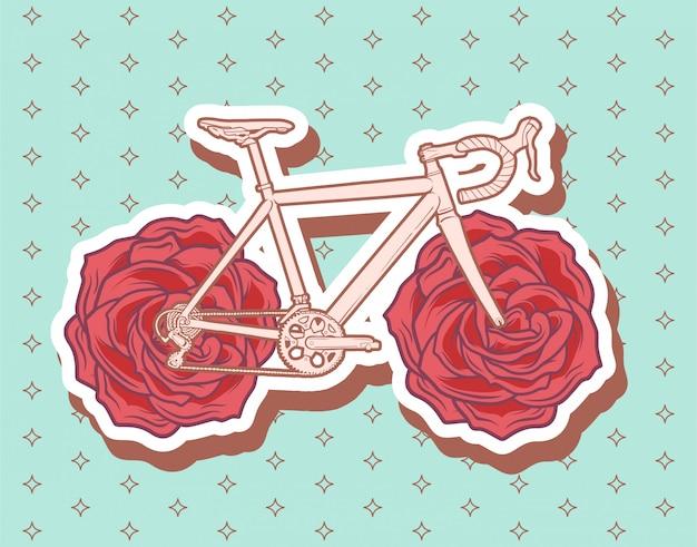 Illustration de vélo de route