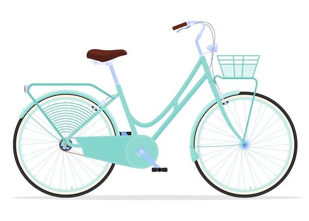 Illustration de vélo vintage femmes