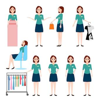 Illustration de vendeuse