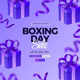 Illustration de vente de boxe réaliste