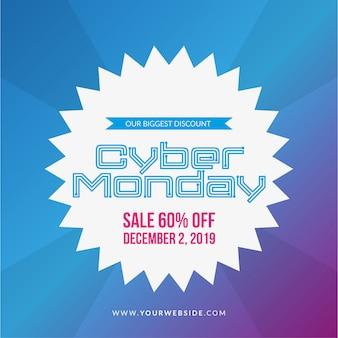 Illustration de vente cyber lundi