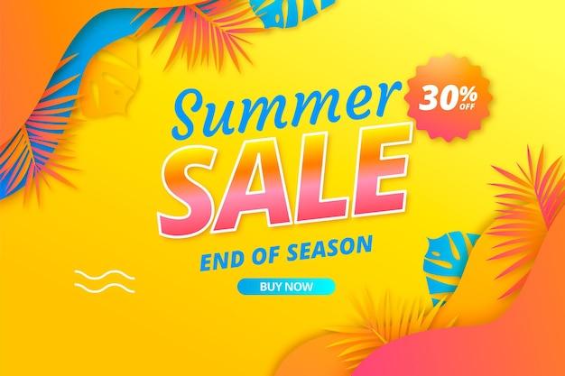 Illustration de vente d'été réaliste