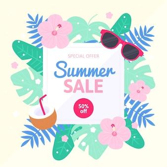 Illustration de vente d'été