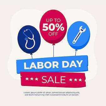 Illustration de la vente de la fête du travail aux états-unis
