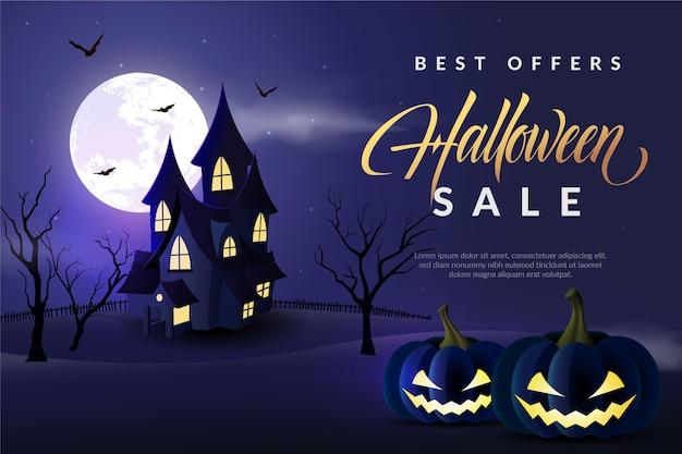 Illustration de vente halloween réaliste