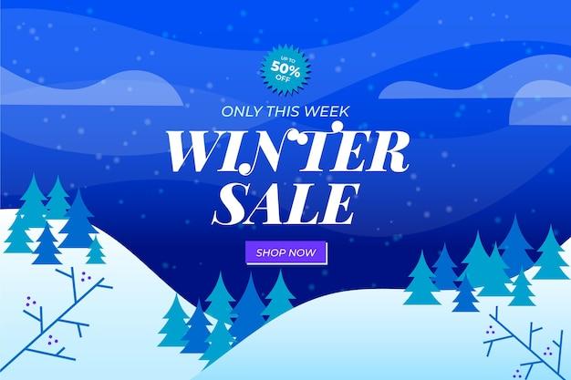 Illustration de vente d'hiver dégradé