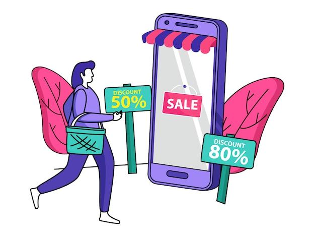 Illustration de vente mobile